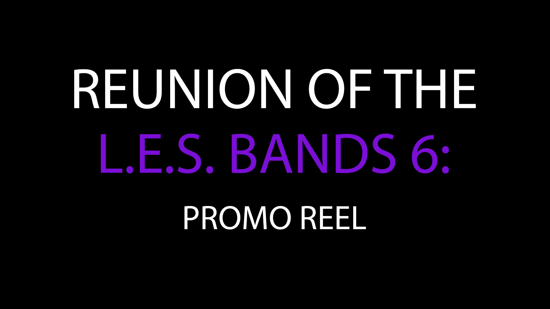 Reunion of the L.E.S Bands 6: 2013: 2018 - Reel