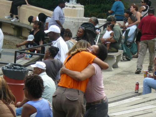 LES Bands hugging 8-13-2011